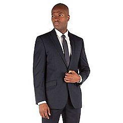 Ben Sherman - Midnight flannel 1 button front slim fit kings suit jacket