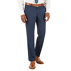 Ben Sherman - Teal tonic plain front slim fit kings suit trouser