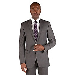 Ben Sherman - Mid grey pindot 2 button front slim fit kings suit