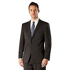 Pierre Cardin - Black stripe 2 button front regular fit suit jacket