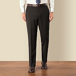 Pierre Cardin - Black stripe plain front regular fit suit trouser