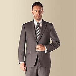 Racing Green - Grey birdseye 2 button front regular fit suit jacket