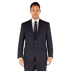Racing Green - Bright blue birdseye regular fit 2 button suit jacket