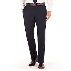 Racing Green - Bright blue birdseye regular fit suit trouser