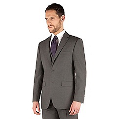 Thomas Nash - Grey narrow stripe 2 button regular fit suit jacket