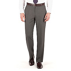 Thomas Nash - Grey narrow stripe regular fit suit trouser