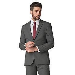 Thomas Nash - Grey narrow stripe 2 button tailored fit suit jacket
