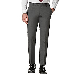 Thomas Nash - Grey narrow stripe tailored fit suit trousers