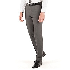 Thomas Nash - Grey narrow stripe 2 button slim fit suit trouser