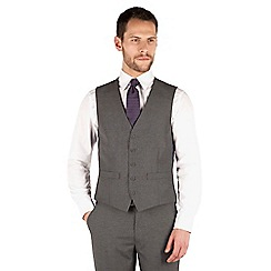 Thomas Nash - Grey narrow stripe 5 button waistcoat