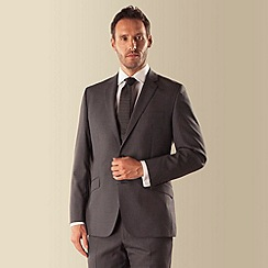 J by Jasper Conran - Grey check 2 button front tailored fit luxury suit