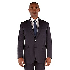Centaur Big & Tall - Navy stripe 2 button front big and tall regular fit suit jacket