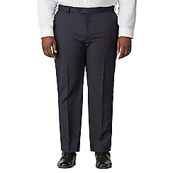 Centaur Big & Tall - Navy stripe plain front big and tall regular fit suit trouser