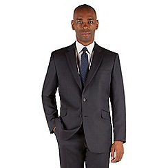 Centaur Big & Tall - Navy birdseye 2 button front big and tall regular fit suit jacket