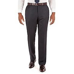 Centaur Big & Tall - Navy birdseye plain front big and tall regular fit suit trouser