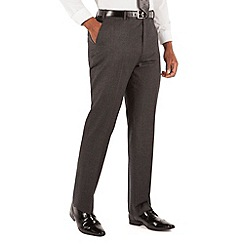 Centaur Big & Tall - Grey flannel plain front big and tall regular fit suit trouser