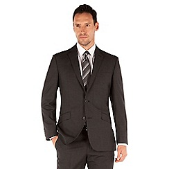 J by Jasper Conran - Dark grey check 2 button front tailored fit luxury suit jacket