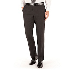 J by Jasper Conran - Dark grey check plain front tailored fit luxury suit trouser
