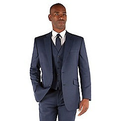 Centaur Big & Tall - Blue semi plain big and tall 2 button suit
