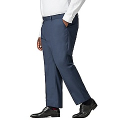 Centaur Big & Tall - Blue semi plain big and tall suit trouser