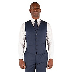 Centaur Big & Tall - Blue semi plain 5 button front suit waistcoat