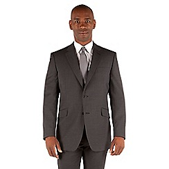 Centaur Big & Tall - Grey with lilac stripe 2 button front big and tall regular fit washable suit jacket
