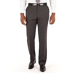 Centaur Big & Tall - Grey with lilac stripe plain front big and tall regular fit washable suit trouser
