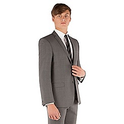 Red Herring - Grey check 2 button front slim fit suit jacket