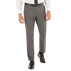 Red Herring - Grey check plain front slim fit suit trouser