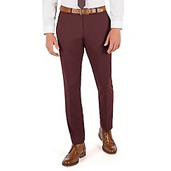 Red Herring - Burgundy plain slim fit suit trouser