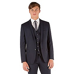 Red Herring - Blue check 2 button front slim fit suit jacket