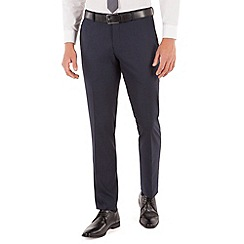 Red Herring - Blue check plain front slim fit suit trouser