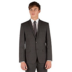 Red Herring - Charcoal check 2 button front slim fit suit jacket