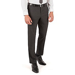 Red Herring - Charcoal check plain front slim fit suit trouser