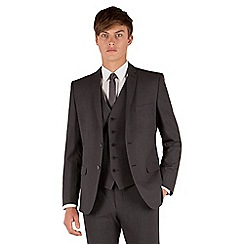 Red Herring - Charcoal puppytooth 2 button front slim fit suit jacket