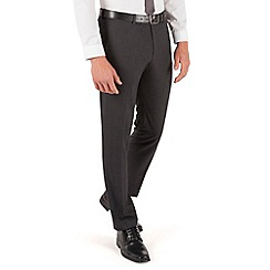 Red Herring - Charcoal puppytooth plain front slim fit suit trousers