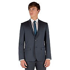 Red Herring - Teal semi plain 2 button slim fit suit