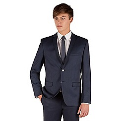 Red Herring - Blue semi plain 2 button front slim fit suit jacket