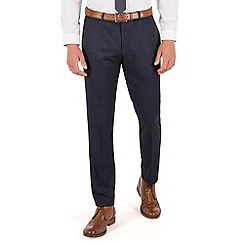 Red Herring - Blue semi plain plain front slim fit suit trouser