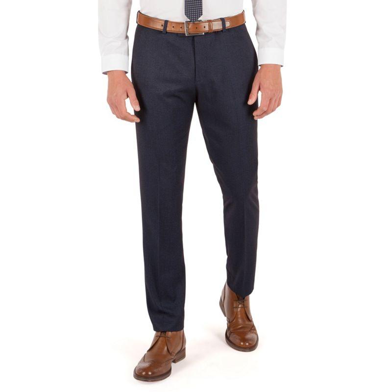 Red Herring - Blue Semi Plain Plain Front Slim Fit Suit Trouser