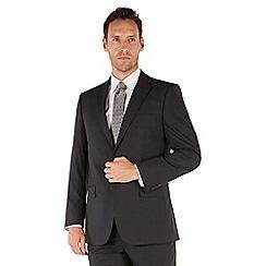 Pierre Cardin - Navy check 2 button front regular fit suit