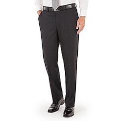 Pierre Cardin - Navy check plain front regular fit suit trouser