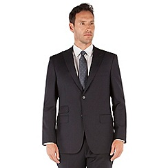 Jeff Banks - Navy twill 2 button frontR fit black label suit jacket