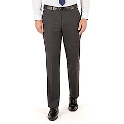 Jeff Banks - Grey twill plain frontR fit luxury suit trouser