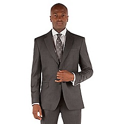 Stvdio by Jeff Banks - Grey twill 2 button front tailored fit ivy league suit jacket