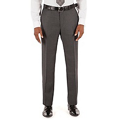 Stvdio by Jeff Banks - Grey twill plain front tailored fit ivy league suit trouser