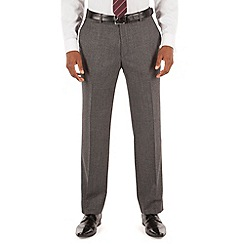 Stvdio by Jeff Banks - Grey plain jaspe plain front tailored fit ivy league suit trouser