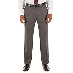 Stvdio by Jeff Banks - Grey plain jaspe plain front tailored fit ivy league suit trouser