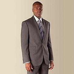 Stvdio by Jeff Banks - Grey and blue check 1 button tailored fit suit jacket