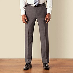 Stvdio by Jeff Banks - Grey and blue check plain front tailored fit suit trouser